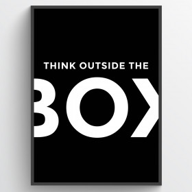 Think outside the box - poster väggdekor