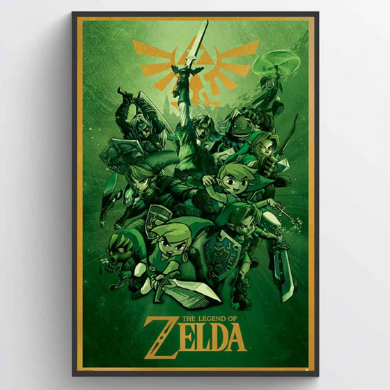 The Legend Of Zelda Poster väggdekor