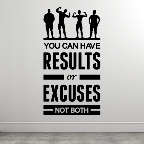 Results or excuses väggdekor