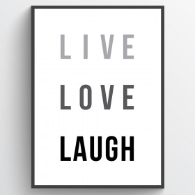 Live love laugh - poster väggdekor