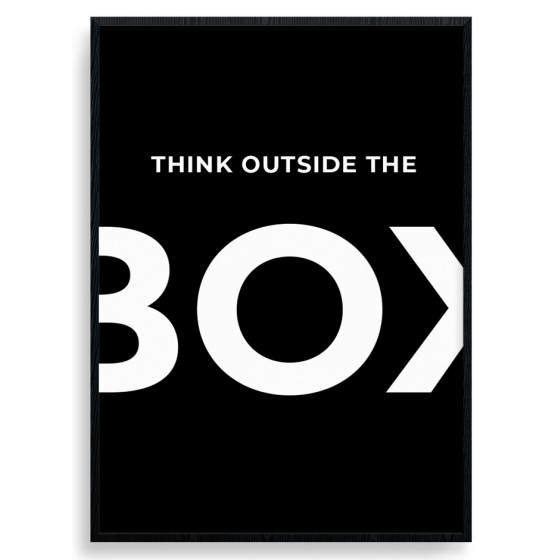 Think outside the box poster väggdekor