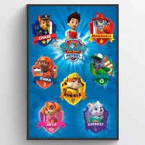 Paw Patrol Crests Poster