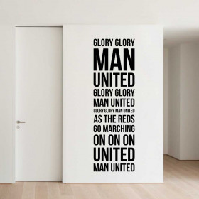 Glory glory Man. United! väggdekor