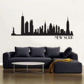 New York Skyline wallsticker väggdekor