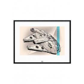 Star Wars Episode VII (Millennium Falcon Pencil Art) Poster väggdekor
