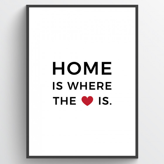 Home is where the heart is poster väggdekor