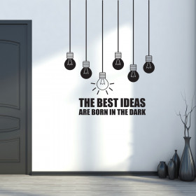 The Best Ideas are born in the dark väggdekor