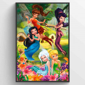 Disney Fairies Flowers Poster väggdekor