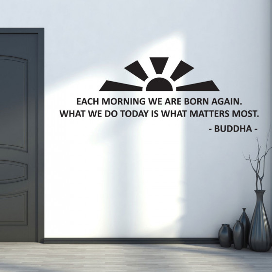 Each Morning - Buddha väggdekor