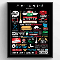 Friends (Infographic) Poster
