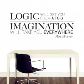 Logic & imagination väggdekor