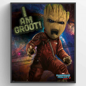 Guardians Of The Galaxy Vol. 2 (Angry Groot) Poster väggdekor