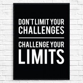 Challenge your limits Poster väggdekor