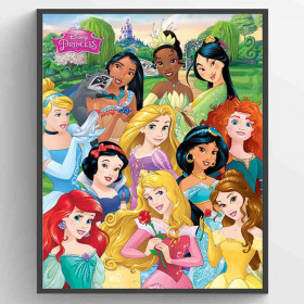 Disney Princessor I am The Princess Poster väggdekor