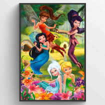 Disney Fairies Flowers Poster