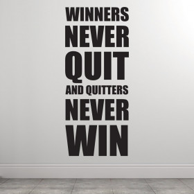 Winners never quit väggdekor