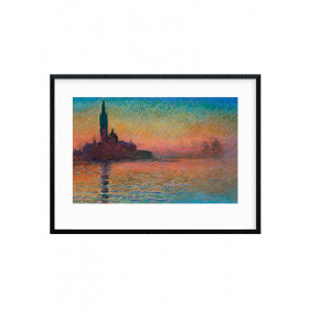 Monet - Sunset in Venice Poster väggdekor