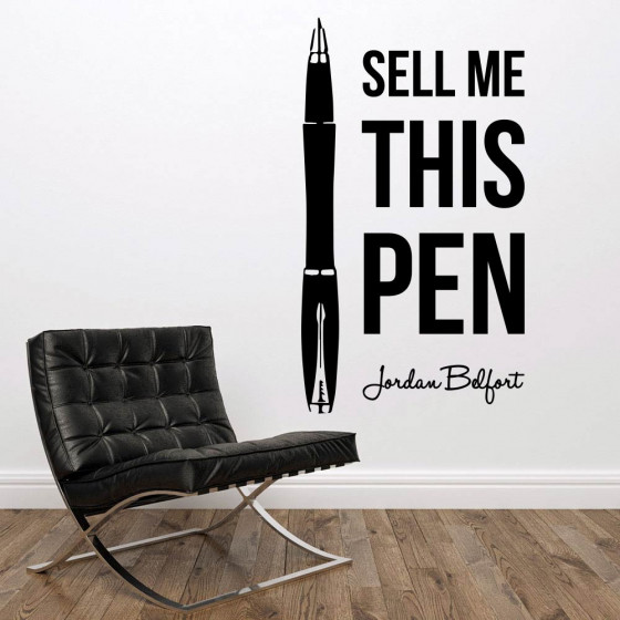 Sell me this pen väggdekor