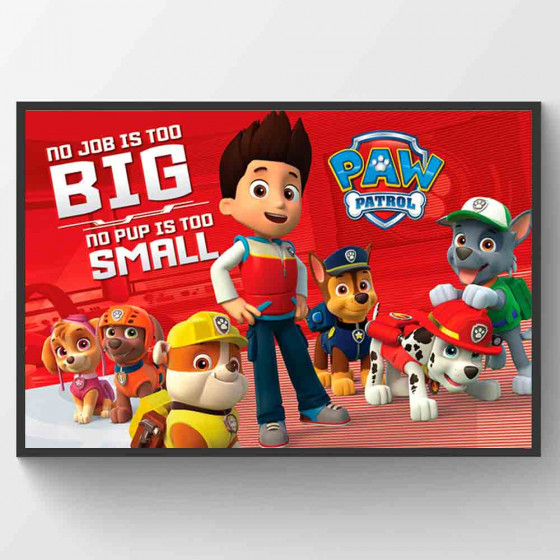 Paw Patrol - No Pup Is Too Small Poster väggdekor