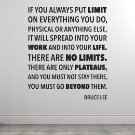 There are no limits - Bruce Lee väggdekor