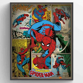 Marvel Comics (Spider-Man Retro) Poster väggdekor