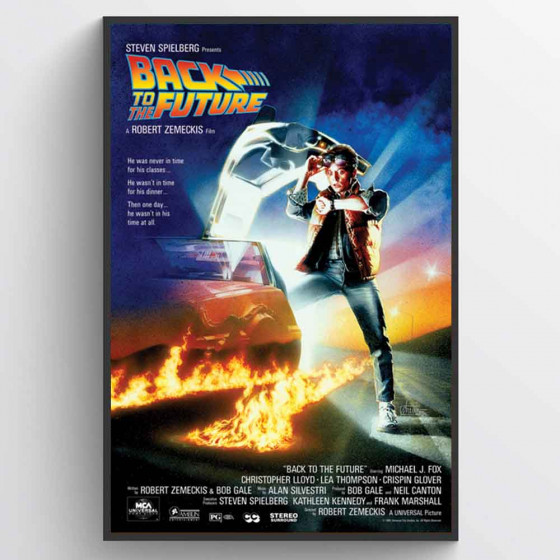 Back to the Future Poster väggdekor