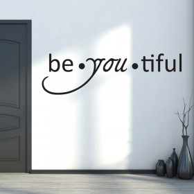 Be-you-tiful väggdekor