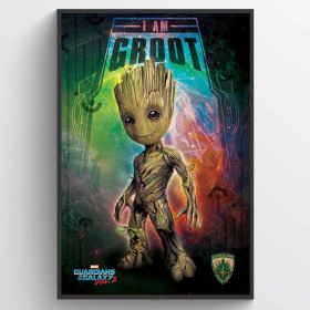 Guardians of the Galaxy Vol. 2 (I Am Groot - Space) Poster väggdekor