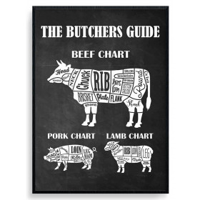The Butchers Guide Poster väggdekor
