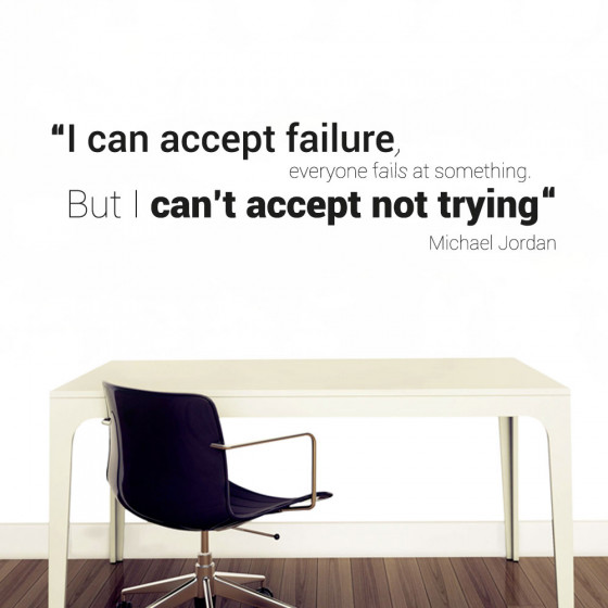 I can accept failure väggdekor