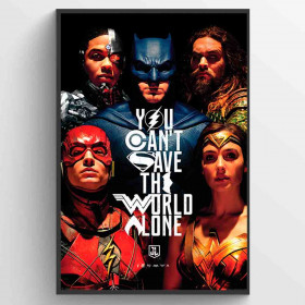 Justice League Movie Save the World Poster väggdekor