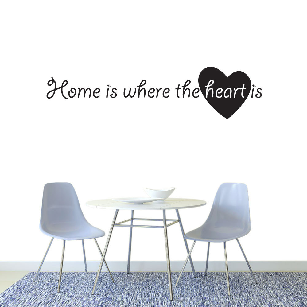 Home is where the heart is väggdekor
