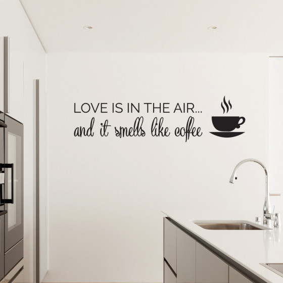 Love is in the air - Coffee väggdekor