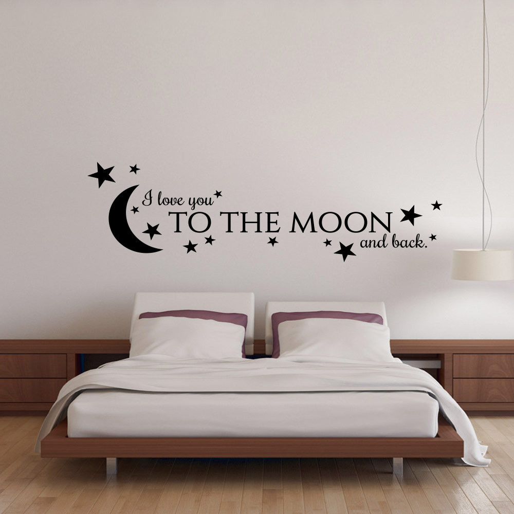 I love you to the moon and back väggdekor