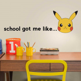 Pokemon Pikachu - School väggdekor