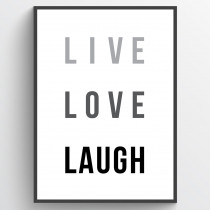 Live love laugh - poster