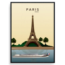 Paris Eiffel Tower Poster väggdekor