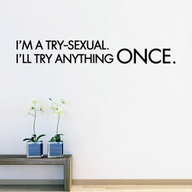 I'm a try-sexual. väggdekor