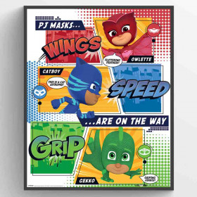 PJ Masks (On the Way) Poster väggdekor