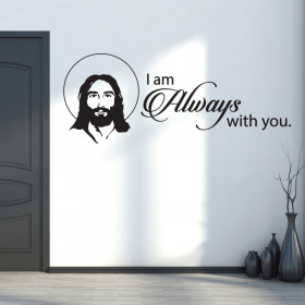 Jesus - i am always with you väggdekor