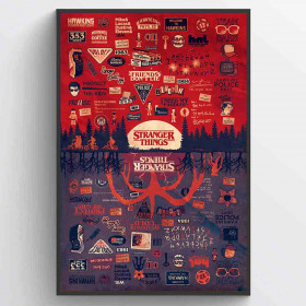Stranger Things (The Upside Down) Poster väggdekor