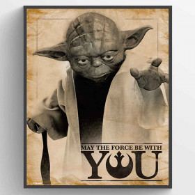 Star Wars Classic (Yoda, May the Force be With You) Poster väggdekor