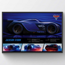 Cars 3 Jackson Storm Stats Poster