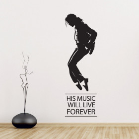 Michael Jackson moonwalk väggdekor