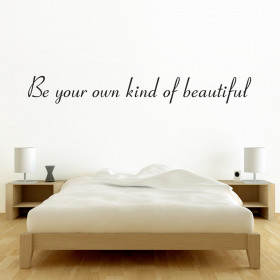 Be your own kind of beautiful väggdekor