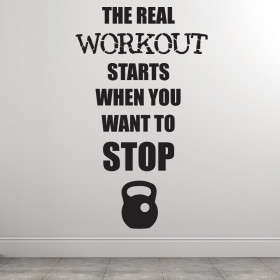 The real workout väggdekor