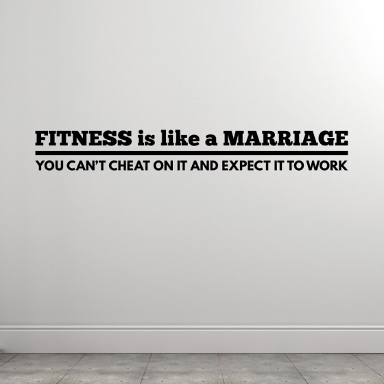 Fitness Is Like A Marriage väggdekor
