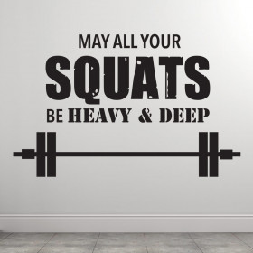May all your squats väggdekor