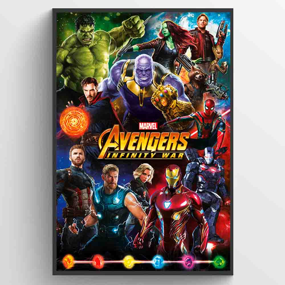 Avengers Infinity Wars Characters Poster väggdekor