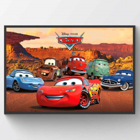 Cars Best Friends Poster väggdekor